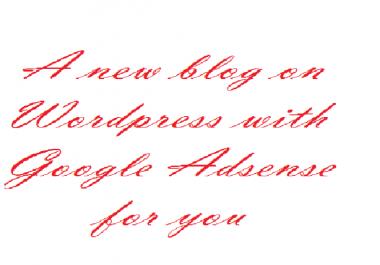 create a WordPress blog, write 20 articles and get Google Adsense on it