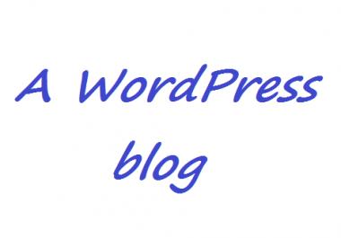 create a WordPress blog for you