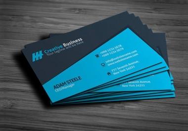 make elegant business card.