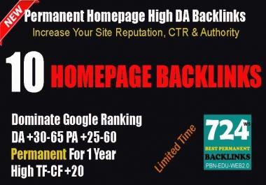 Provide 10 Quality PBN Backlinks On High DA-PA=40-65 Domains