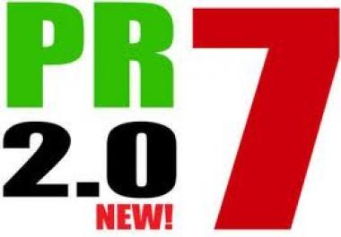 create 14 PR7 Profiles PR7 Backlinks from PR7 2.0 Authority Sites