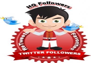 add 3000 High Quality Twitter Followers ReTweets Favorites