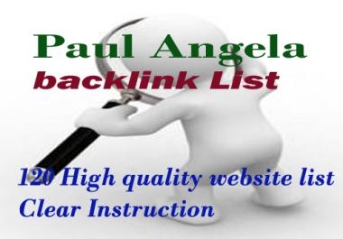 create 22 PR 6+ Paul and Angela style dofollow links using white hat method
