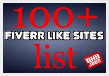 SEND YOU A LIST OFF 100 GIG SITES
