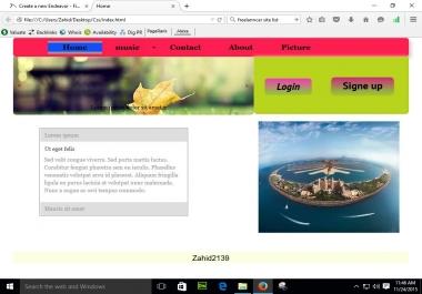 create your web page desgin your company