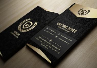 I Ll Design Elegant Black And Gold Business Cards For 5 Dani