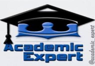 do your academic work