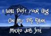 Post Your Gig On My PR1 Rank Micro Job Site