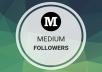 Provide You 100 Real USA People Medium Followers