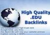 get 5 hundred EDU back links for your net web site, edu links for any sort of url through blog comments