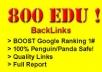 get 800 EDU seo links for your web site