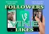 add 1000 High Quality Vine Followers or Likes