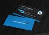 do EYE catching business card