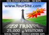 provide, (25,000) ADSENSE safe Social Media Visitors to your Websites/Blogs