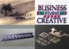 create a modern and professional logo