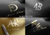 design a professional initial letters,monogram logo