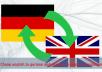 translate german to english and english to german