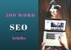 write a unique 500 word article